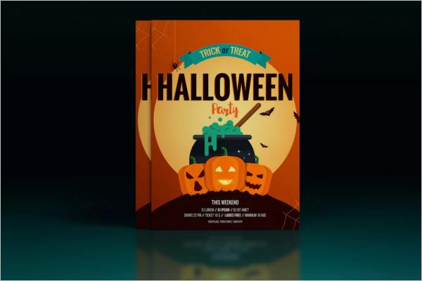 Halloween Poster Design PSD
