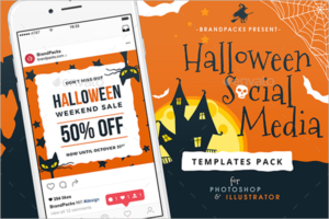 Halloween Social Media Ad Template