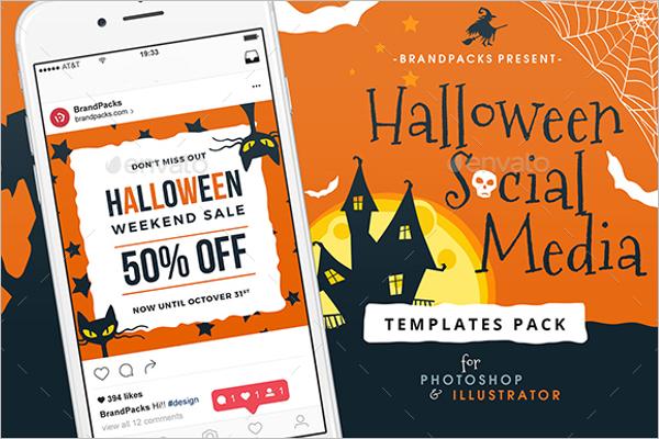 Halloween Social Media Ad Template