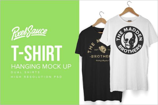 Hanging T-Shirt MockUp Template