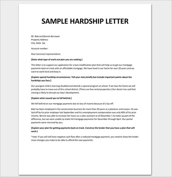 Financial Hardship Letter To Employer