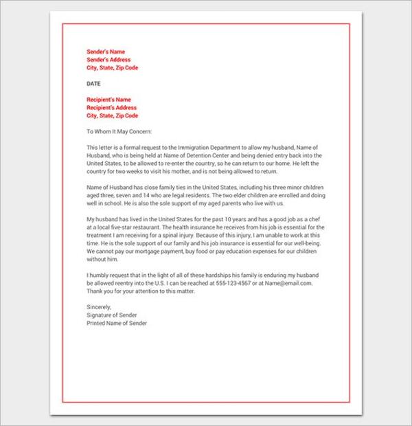 Hardship Letter for Court