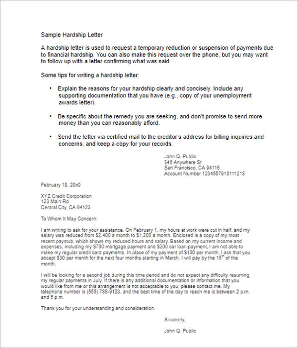 Hardship Letter for Immigration