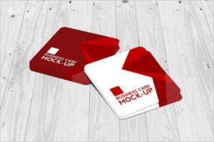 High Quality Visiting Cards Mockup Design