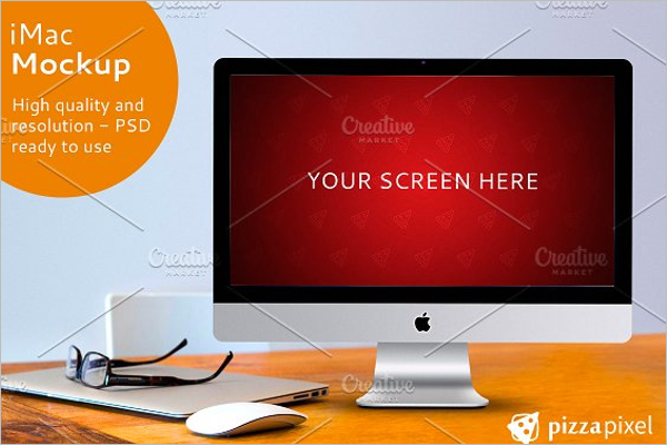 High Quality iMac Mockup Design