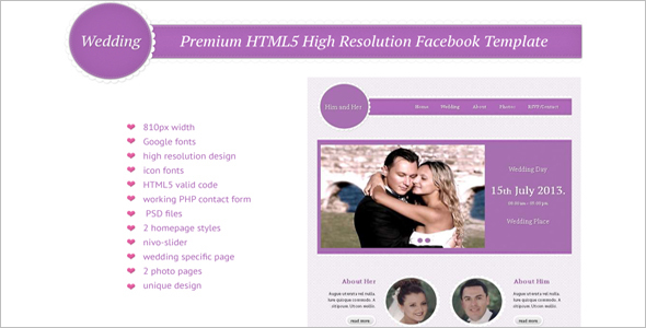 High Resolution HTML5 Template