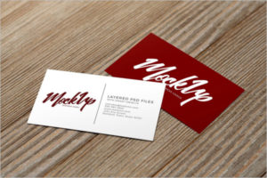 High Resolution Visiting Cards Mockup Design