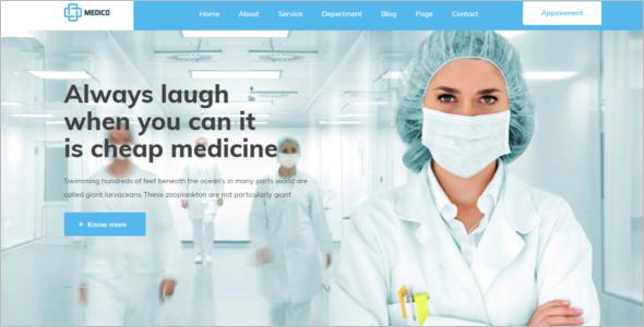 Hospital Responsive Website Template