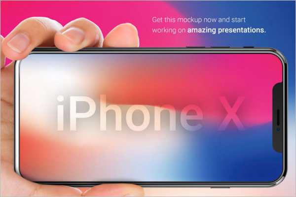 IPhone X Mockup Design