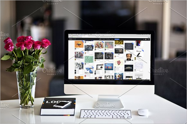 Imac Mockup Design Illustrator