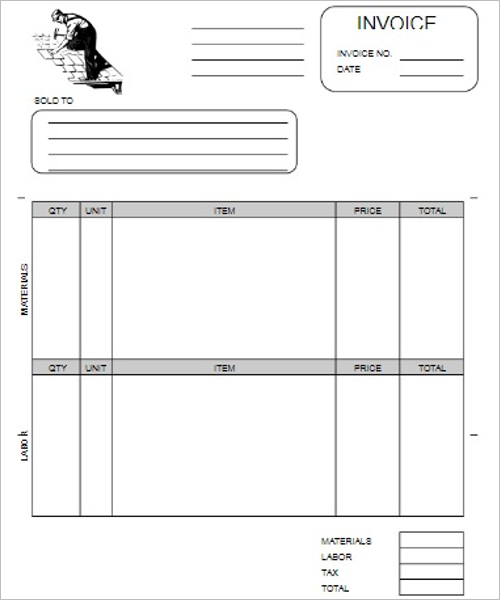 Independent Contractor Invoice Template Word