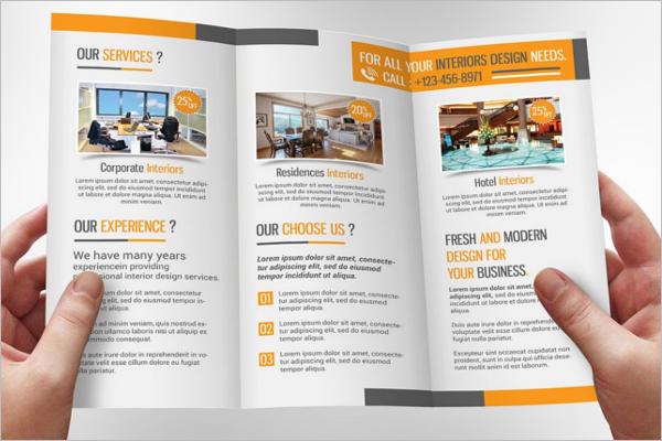 Interior Leaflet Brochure Design