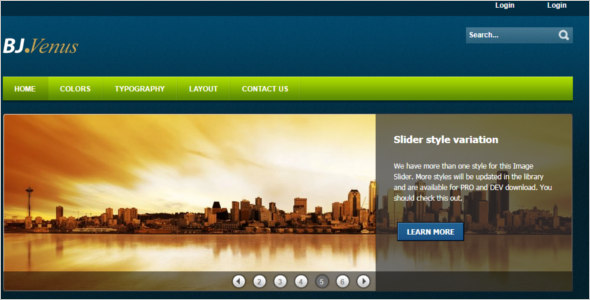 Joomla Cheap Template -$2