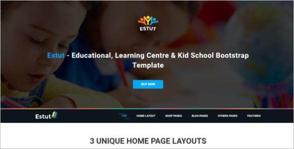Kid School HTML5 Template