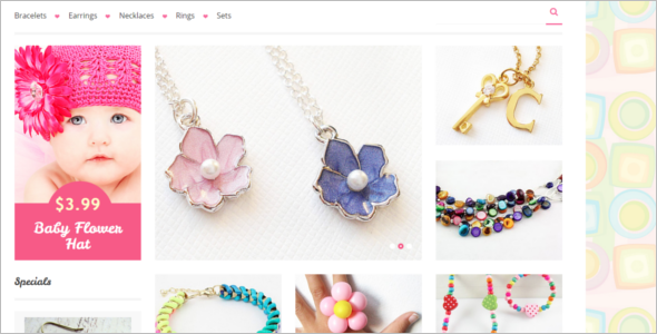 Kids Jewelry HTML5 Template