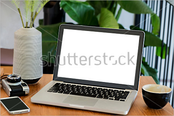 Laptop Free Screen Mockup