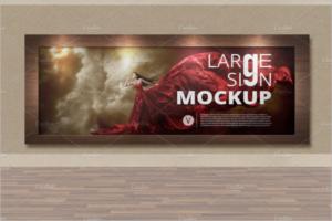 LargeOutdoor Frame Mockup Design