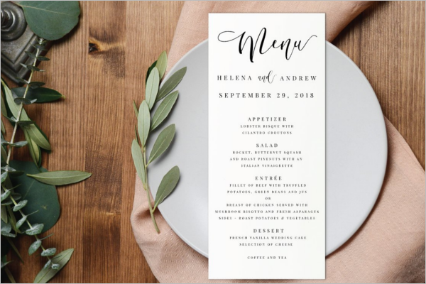 Latest Menu card Template