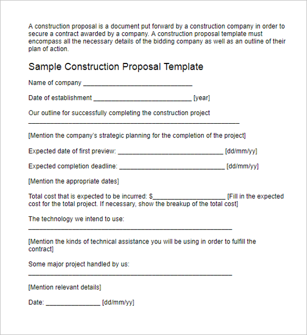 Lawn Bid Proposal Template