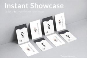 Letter PressVisiting Cards Mockup Template