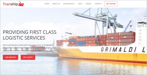 Logistics Company HTML5 Template