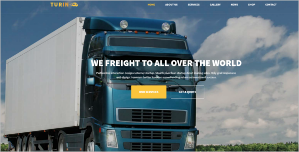 Logistics HTML5 Template