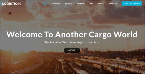 Logistics WordPress Website Theme