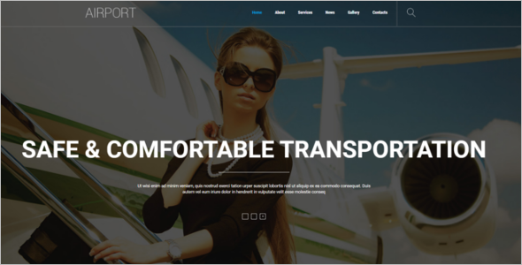 Luxury Airlines Joomla Template