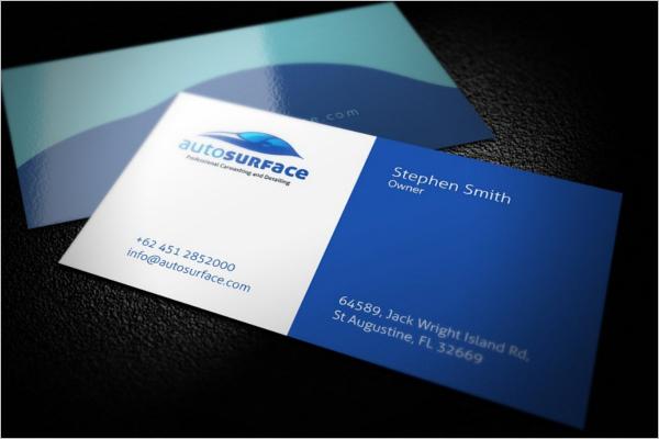 LuxuryAutomotive Business Card Design