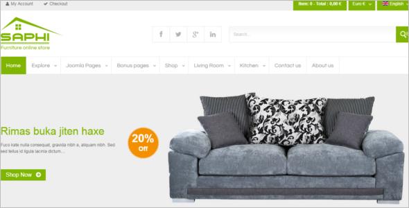 Luxury FurnitureJoomla Template