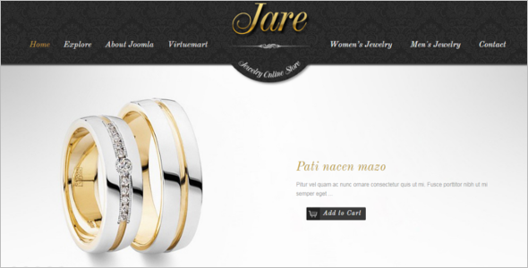 Luxury Jewellery Joomla Template