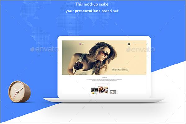Macbook Mockup Design Template