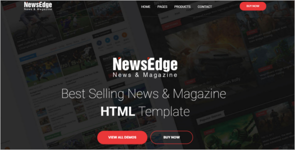 Magazine HTML Website Template