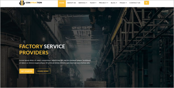Manufacturing HTML5 Template