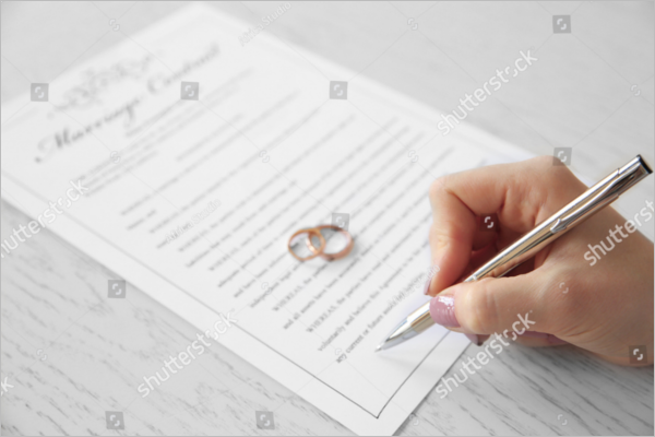 Marriage Agreement Contract Template