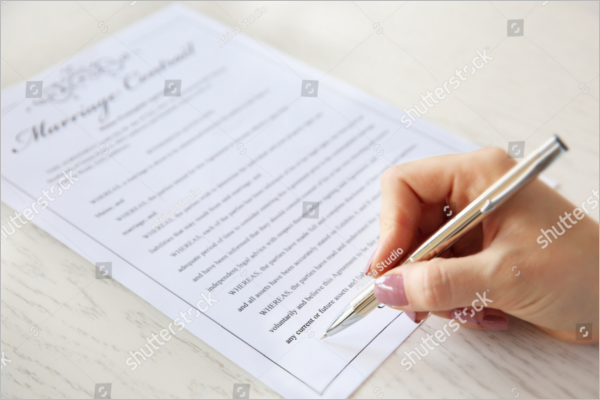 Marriage Certificate Contract Template