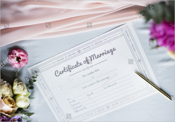 Marriage Certificate Model