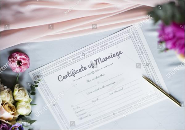 Marriage Certificate Model