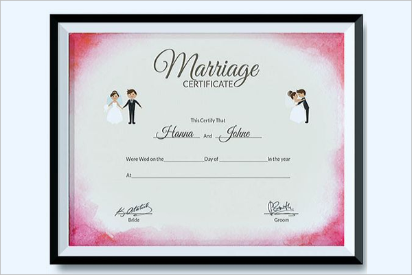 Marriage Certificate Template In Word