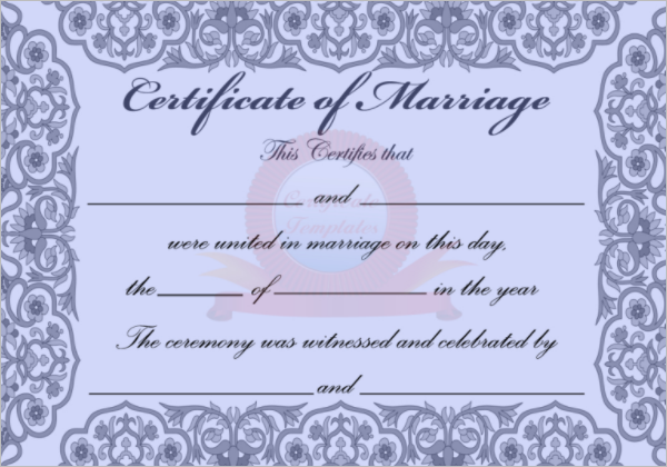 42 free marriage certificate templates word pdf doc format samples