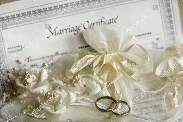Marriage Certificate Word