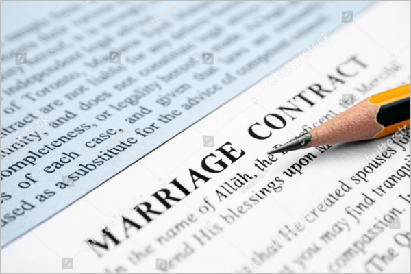 Marriage Contract Template Doc