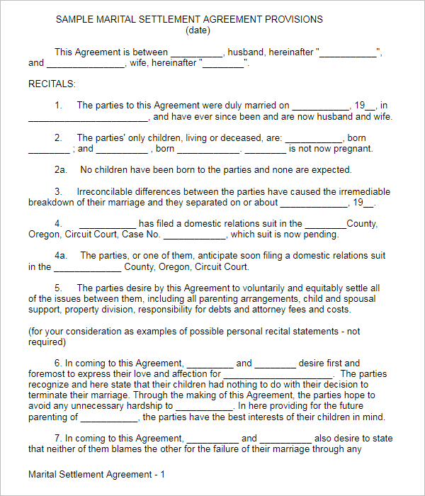 38 Free Marriage Contract Templates Pdf Format Examples