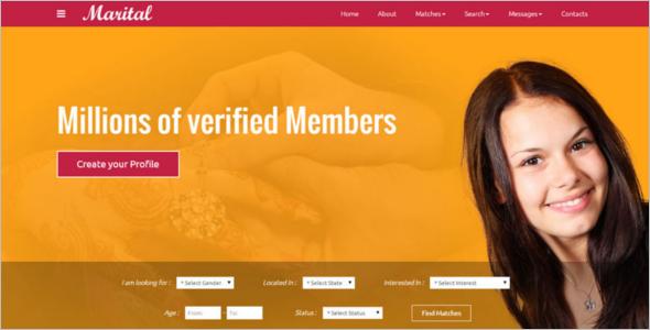 Matrimonial Website Theme