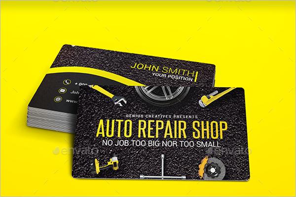 Mechanic Care Service Business Card Template