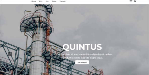 Mechanical Engineering Website Template