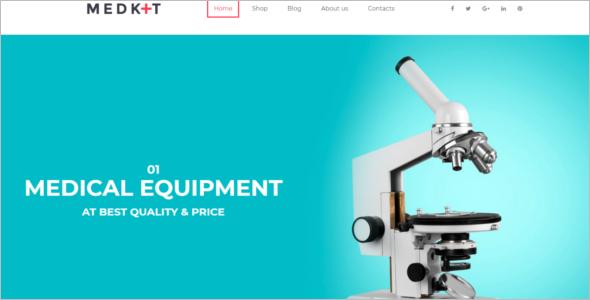 Medical Equipment HTML5 Template