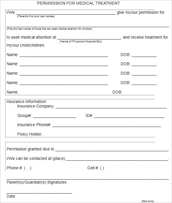 MedicalPermission Letter Template