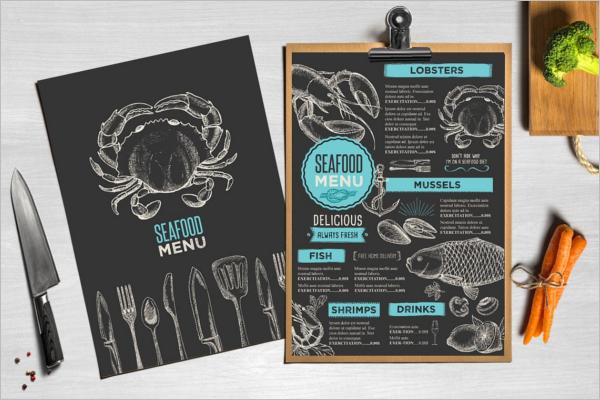 Menu Card Design Illustrator