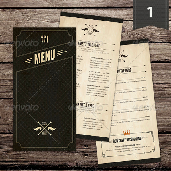 Menu Card Template Bundle